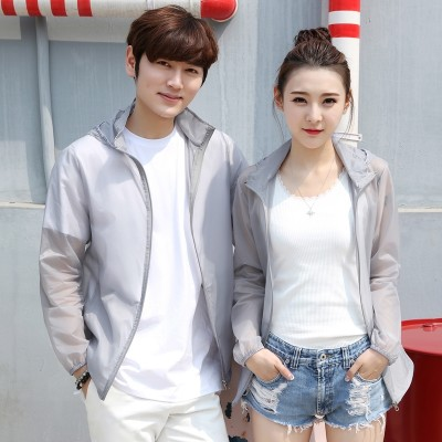 Summer outdoor sunscreen clothes, men and women sports breathable thin coat, tide windproof jacket, lovers, light, sunscreen clothes, men