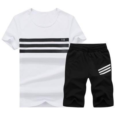 2017 summer T-Shirt Tee Shirt Mens Korean sports leisure men's suits summer T-shirt printing