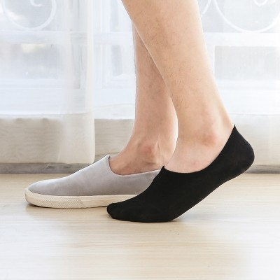 Socks, men's boat socks, summer super thin cotton invisible socks, men's socks, shallow silicone, anti slip, socks, men
