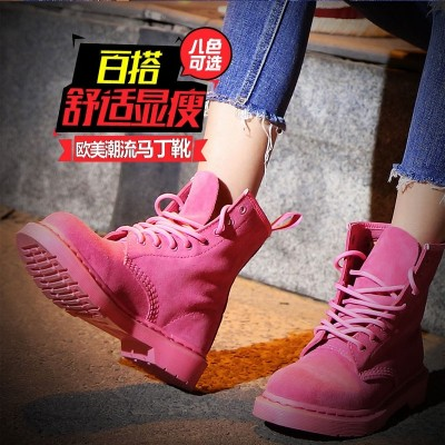 Fashion leather boots 1460 frosted pink Martin boots spring 8 hole anti hair shoes boots boots single boot