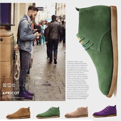 Martin boots, men's English wind, low boots, men's leather, casual boots, men's high boots, men's Vintage boots, men's tides
