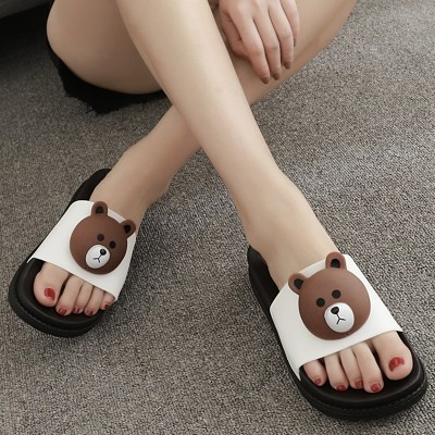 The new summer fashion high-heeled sandals female anti landslide with large base drag a muffin with beach slippers