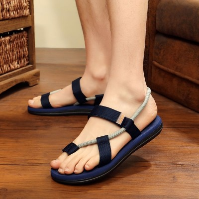 Men's cool slippers, thick bottom casual shoes, summer two wear anti-skid flip flops, fashionable lovers beach shoes, tide men sandals