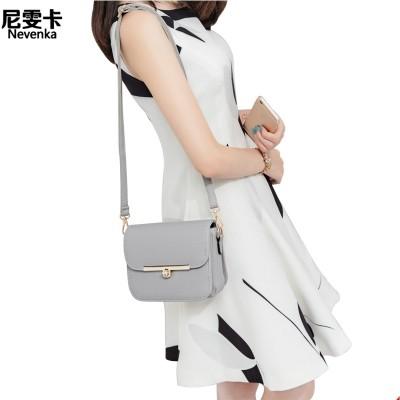 2017, spring and summer new retro Korean tide, simple packet, mini package, rotary lock, shoulder bag, shoulder bag