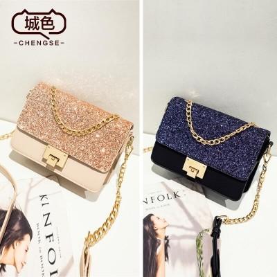 2017 new spring chain Korean small bag bag fashion personality all-match satchel female bag