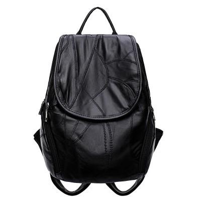 Sheepskin leather shoulder bag female 2017 new Korean tide all-match Backpack Bag mummy bag travel bag bag