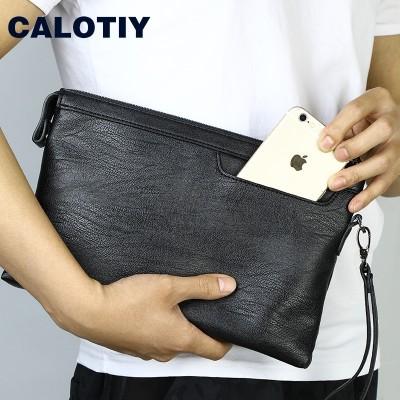 Calotiy men's handbags male large capacity envelopes casual hand bag hand bag Chaonan hand bag