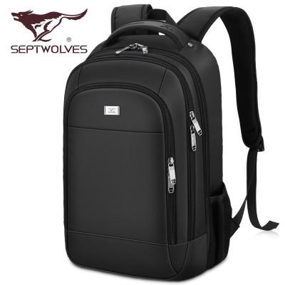 SEPTWOLVES Backpack Bag female male business students shoulder computer bag travel backpack men with large capacity