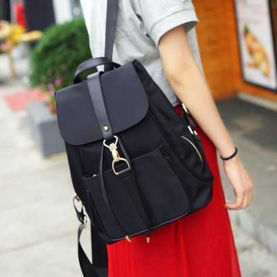 Ladies backpack bag bag 2017 Korean fashion personality all-match new tide Oxford nylon canvas Backpack