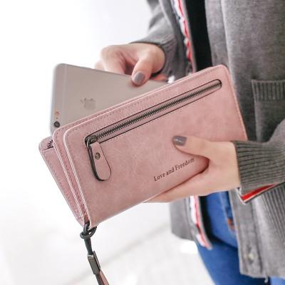 Pear doll lady, purse 2017, new Japanese Korean version of zipper, multi-function long, high-capacity Wallet