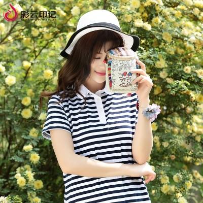 Cartoon Dongba zero wallet fabric mobile phone bag, cute female hand bag, mini canvas bag, multi-function
