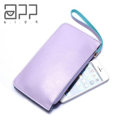 Ms. long female Wallet Zipper Handbag Purse Mini version of South Korea hand bag student mobile phone package thin