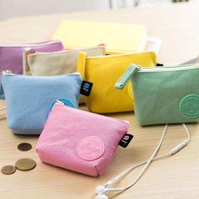 2017, the new simple Korean version, zero purse, female Mini coin bag, small purse, short cloth, pocket bag, canvas