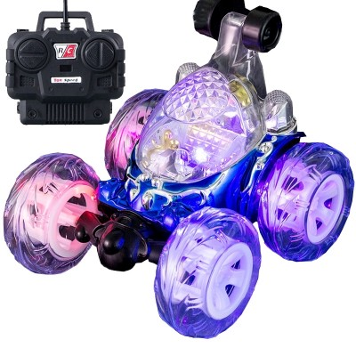 The rolled-car stunt car is a car that can be used to charge a child toy car