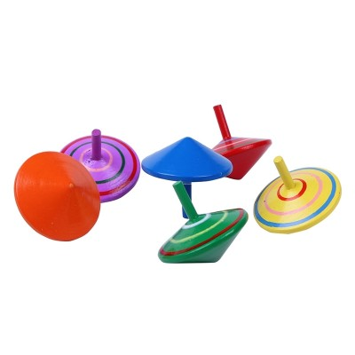 The original wooden children's little gyro toy outdoor toy outdoor traditional boy's classic toy is over 3 years old