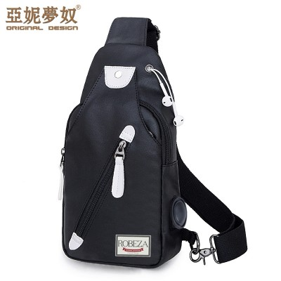 The men's breast bag is a casual shoulder bag with the Korean version of the trend of the trend of the trend of the trend of the trend of the trend of the trend of the movement of the bag