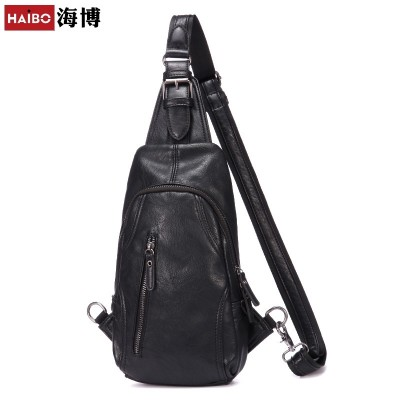 In summer, the new sports casual boobs bag man han's bag leather bag man's shoulder bag with a single shoulder bag