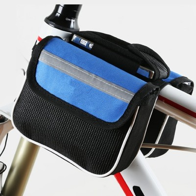 Mountain road bike, front bag, upper tube, mobile phone, saddle, front beam, bicycle, equipment fittings
