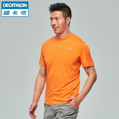 Fast drying air dry male couple T-shirt short sleeve QUECHUA MH