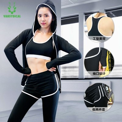 Summer yoga, spring gym, 345 sets of trousers, running fast drying jacket, long sleeved sports suit, women