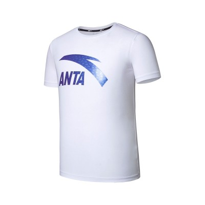 Anta short sleeved men's T-shirt, summer 2017 new round neck, breathable black, speed dry running, sports casual jacket tide