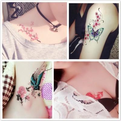 Tattoo sticker, waterproof, durable, realistic tattoo sticker, chest scar, flower set