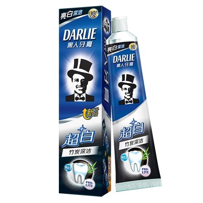 Black toothpaste super white bamboo 190g double white moth breath bright white teeth