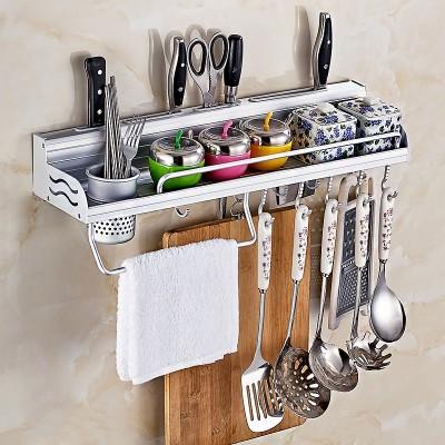 Dan Le perforation free kitchen shelf space aluminum kitchenware storage rack cutter frame hanging seasoning spatula