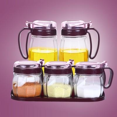 Kitchen glass sauce seasoning pot seasoning box and pot seasoning bottle into household seasoning box set