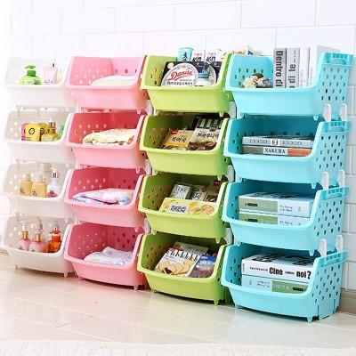 Kitchen vegetable storage rack shelving incorporating fruit storage basket basket frame multilayer dish kitchen floor