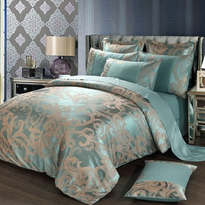 European cotton satin jacquard cotton four set wedding bed linen bedding bed 1.8/2.0m