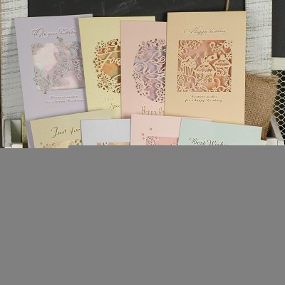 DREAMDAY Korean creative hollow cards, gifts, business, father's day, universal greeting cards, birthday cards, thank you cards