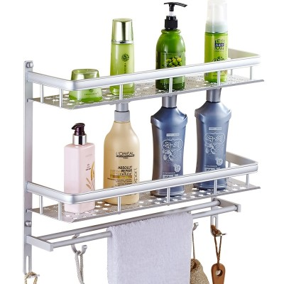 Bathroom shelving, wall hanging bathroom, toilet, bathroom, bathroom, bathroom articles, suction wall, free punching