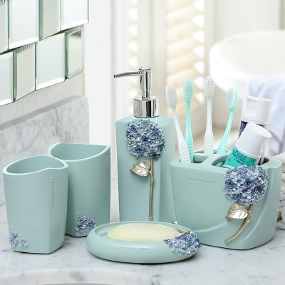 Well, what a great idea! European style bathroom, five sets of bathroom supplies suite, bathroom Wash Cup, toothbrush rack set