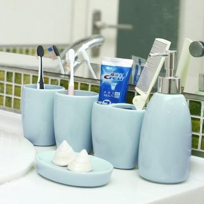 Creative European ceramic bathroom, five piece bathroom supplies suite, bathroom Wash Cup, wedding wash set