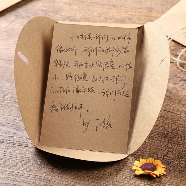 Creative birthday greeting cards retro kraft paper business creative birthday greeting cards retro kraft paper business greeting cards thanksgiving holiday cards small cards home garden chinese online m4hsunfo