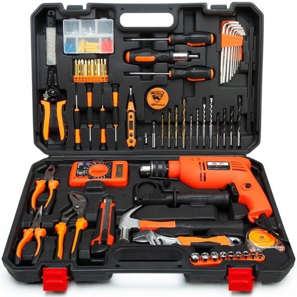 Min cheetah household tool kit hardware toolbox electrician woodwork ...
