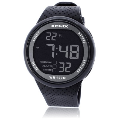 XONIX multi-function fashion business big Numbers luminous waterproof swimming sports students hand LED digital watch men's watch