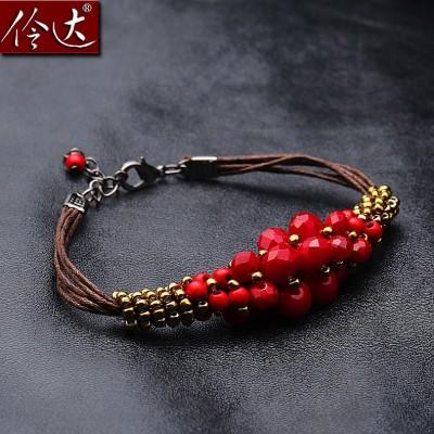 Linda Korean Fashion Jewelry New Folk Style Turquoise Bracelet female Wristlet whisper
