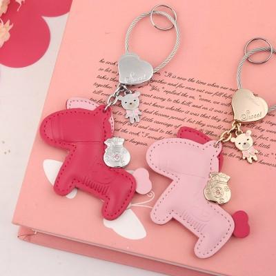 Money key, male and female creative car key, pendant, Korean key chain, lovely personality key ring