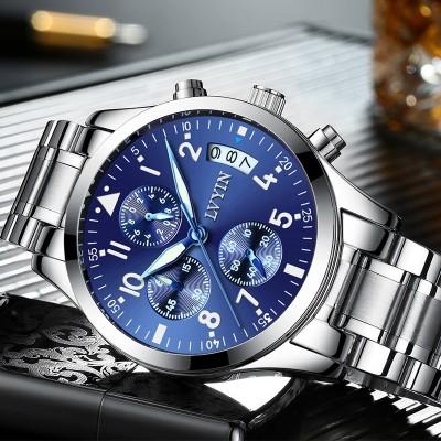 Green watch men Men quartz movement Waterproof fashion noctilucent stainless steel men's watch wrist watch