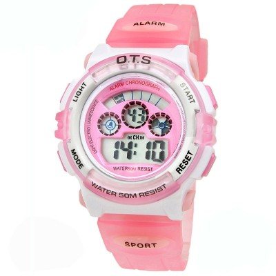 Ots children watch girls waterproof electronic watch boy cute alarm clock children watch girls noctilucent high school students