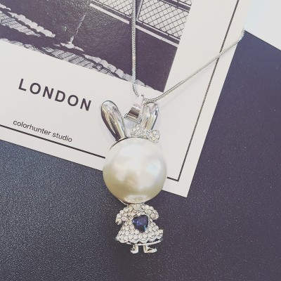 Joker South Korea key fashion long sweater chain necklace female accessories pendant tide all sorts of decorations