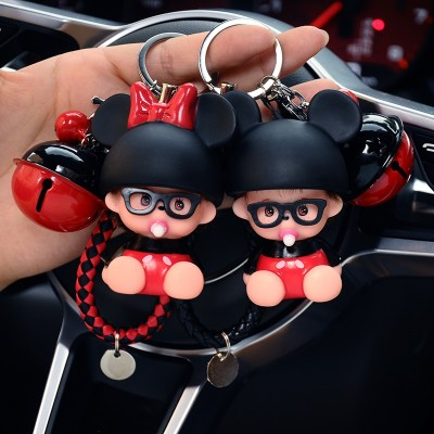 Kiki Keychain men female Korean cute creative key chain key ring pendant car lovers bag