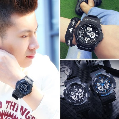 Is the port of male students electronic digital watches sports outdoor youth alarm clock waterproof men middle school students