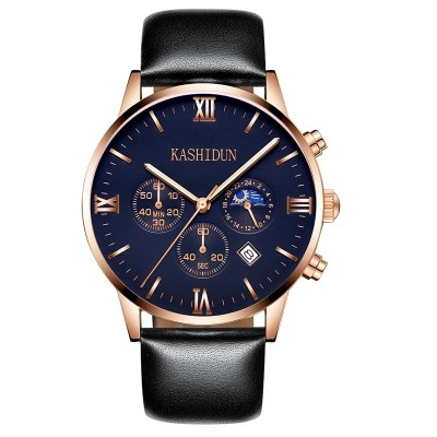 Card poem's new male skin with watch waterproof watch of wrist of men business quartz watch stars and multi-function