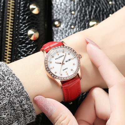 The new belt ladies watch Female table calendar Luminous leisure waterproof tide student quartz fashionable dress