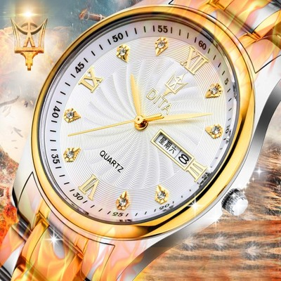Ms di tower watch men leisure steel strip lovers watch waterproof quartz female table male students fashion trends