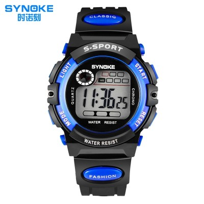Carved children watch waterproof luminous boys and girls, at pupil boy girl multi-functional sports digital watches