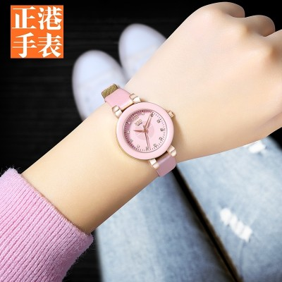 Han edition children watch girls lovely contracted junior high pupil children high school girls girls waterproof quartz